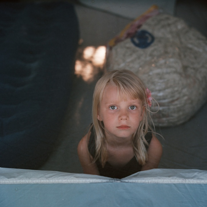 Lily in tent