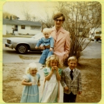 Dad and kids 1976