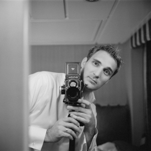 Self Portrait with Rolleiflex FX