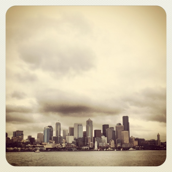 downtown seattle, wa from the ferry